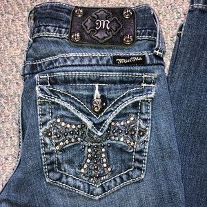 Miss me jeans cross embellished size 27 boot cut